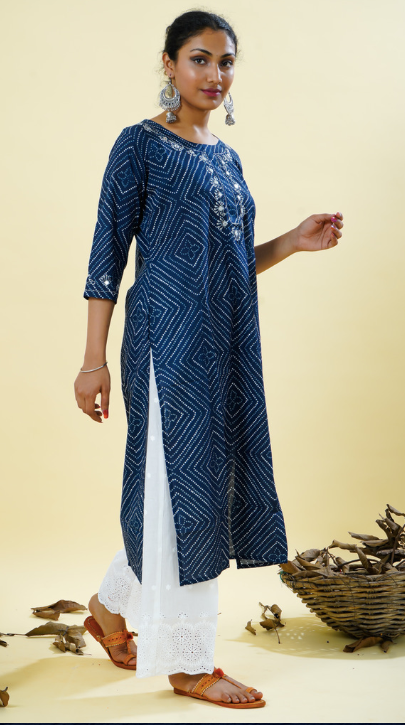 Chacha's 101846 printed cotton kurta