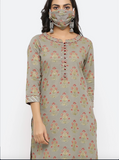 Chacha's 101799 printed cotton kurta set