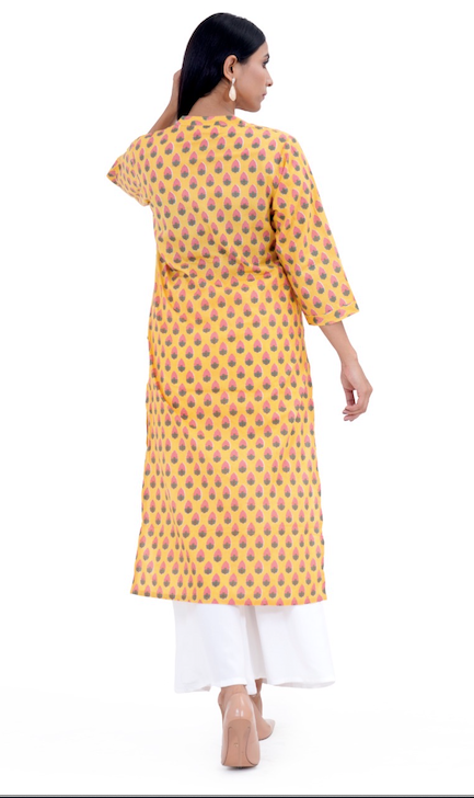 Chacha's 101215 printed cotton kurta