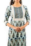 Chacha's 21377 printed cotton kurta set