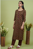 Chacha's 101910 printed cotton kurta set