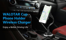 Load image into Gallery viewer, WALOTAR Wireless Car Charger-Cup Phone Holder Mount,Automatic Infrared Smart Sensor Clamping Qi 10W 7.5W Fast Universal Adjustable Cell Phone Wireless Charging Air Vent Cradle