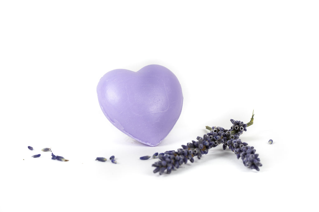 Lavender soap heart 25 Gr