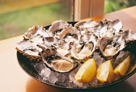 serving of oysters