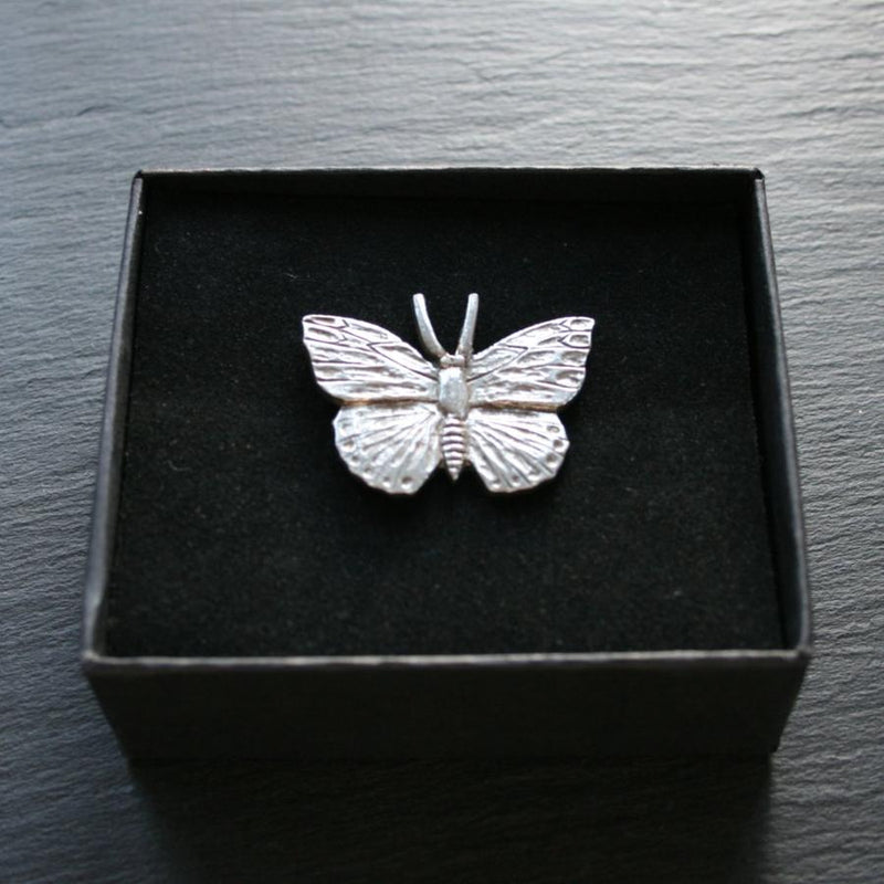 Pewter Butterfly Pin Brooch