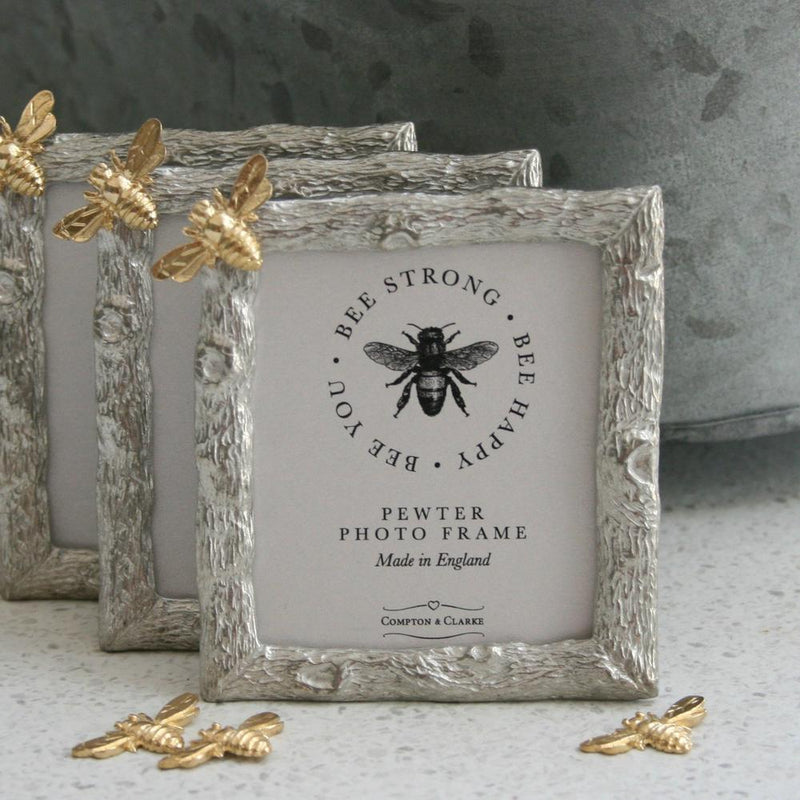 Pewter Bee Photo Frame