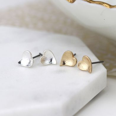 Gold & Silver Heart Earrings