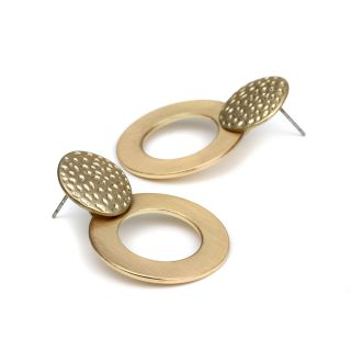 Gold Plated Disc Earrings