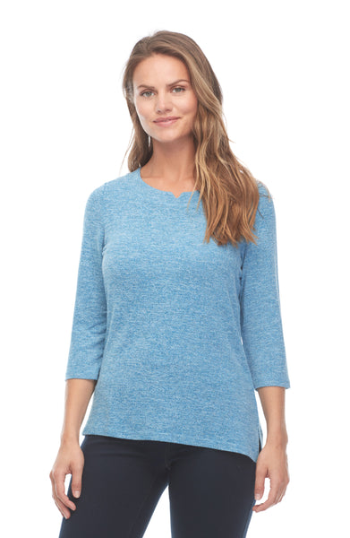 Notched Boatneck Top