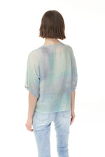 Back of Pazazz Shelburne seafoam gauze top