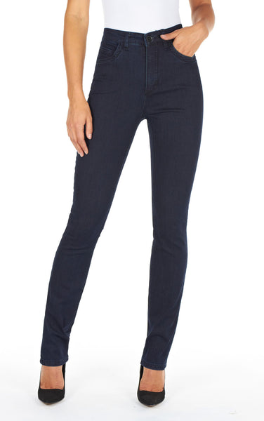 Dark Indigo Supreme denim, Suzanne slim leg, front view