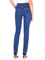 Light indigo supreme denim, Suzanne slim leg, back view