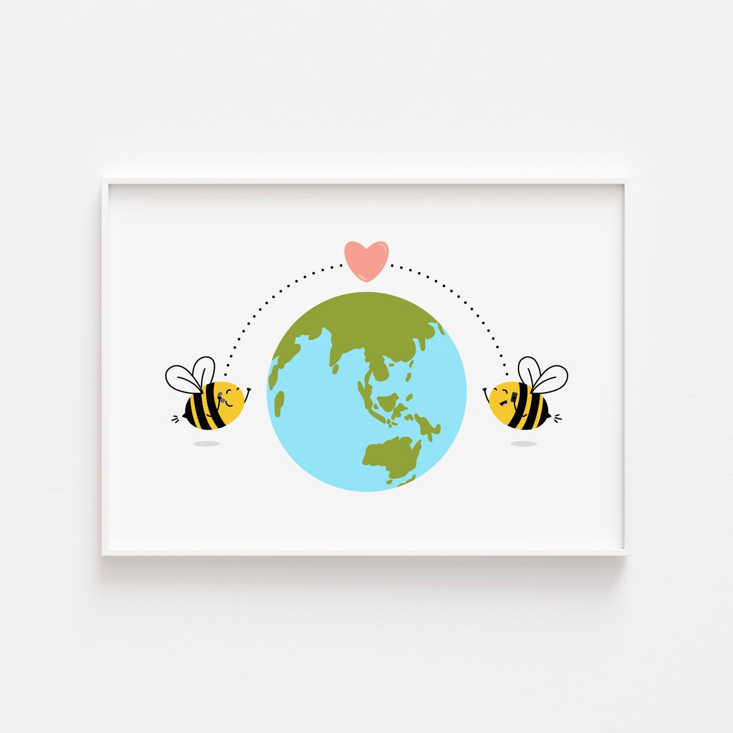 Long Distance Bees Print