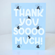 Load image into Gallery viewer, Thank You Card - Blue Bees