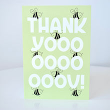 Load image into Gallery viewer, Thank You Card - Green Bees