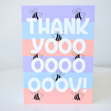 Load image into Gallery viewer, Thank You Card - Stripey Bees
