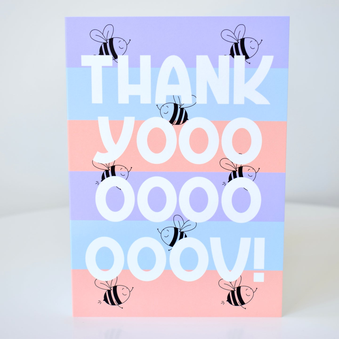 Thank You Card - Stripey Bees