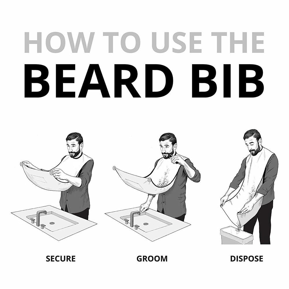 Male Beard Shaving Apron Care Clean Hair Adult Bibs Men Gift