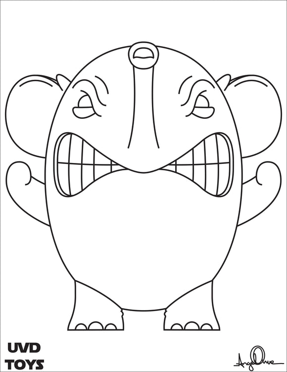 Charlie the Angry Elephant Coloring Page