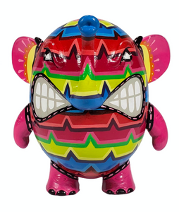 Hand Painted Charlie The Angry Elephant By RSIN
