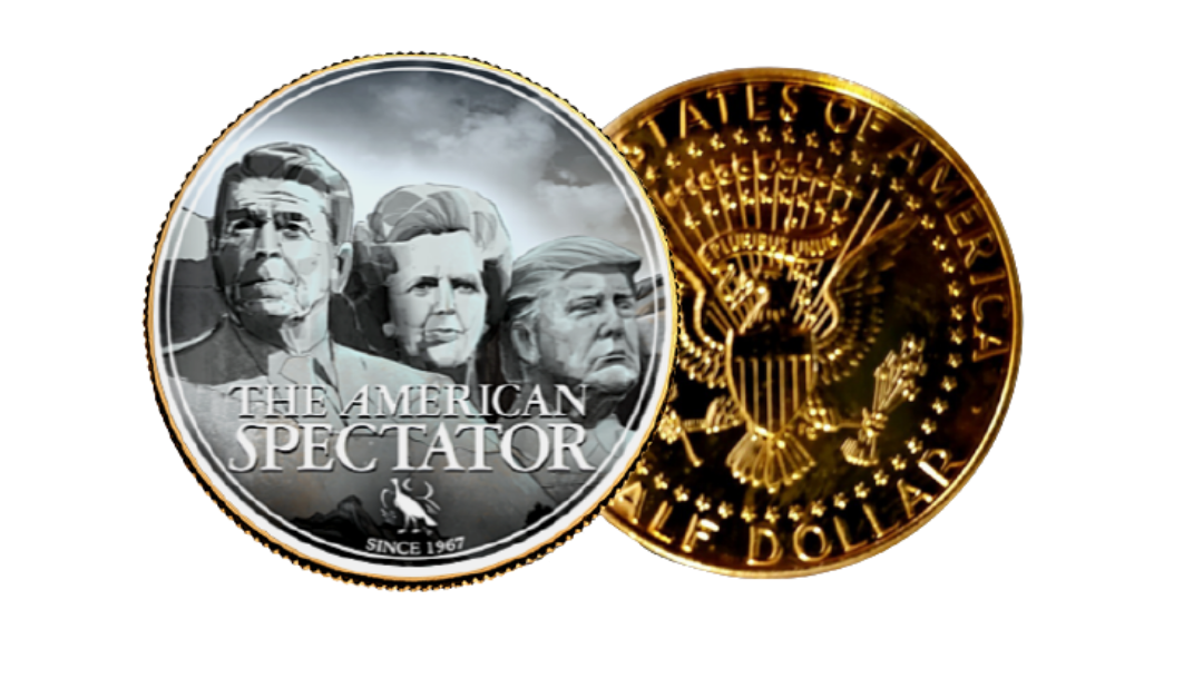 Mount Spectator Gold Plated JFK Half Dollar