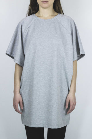 JET Oversized Tee Dress - Gray