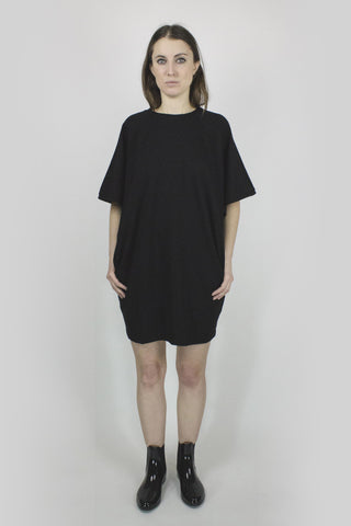 JET Oversized Tee Dress - Black