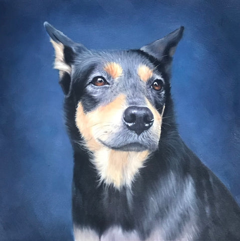 Custom Pet Portrait Oil Painting (Headshot Style)