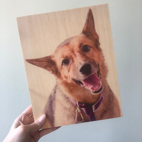 Custom Photo On Wood Print