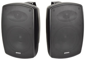 "ADASTRA BH6-B - Pair Indoor / Outdoor Background Speakers 6.5"" Black"