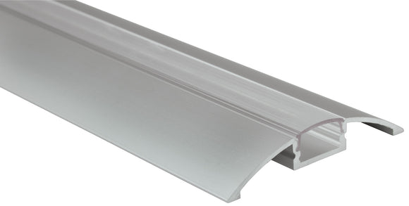 LYYT AL2-B5712C - Aluminium LED Tape Profile - Raised Bar - Transparent Capping 2m