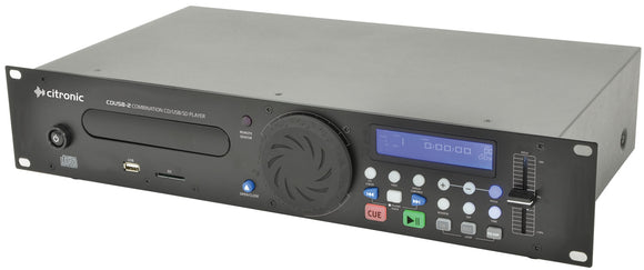 Citronic CDUSB-2 - Combination CD/USB/SD Player