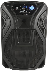 "QTX BUSKER-10 - Busker Portable 60W 10"" PA with VHF Microphones, Media Player & Bluetooth"
