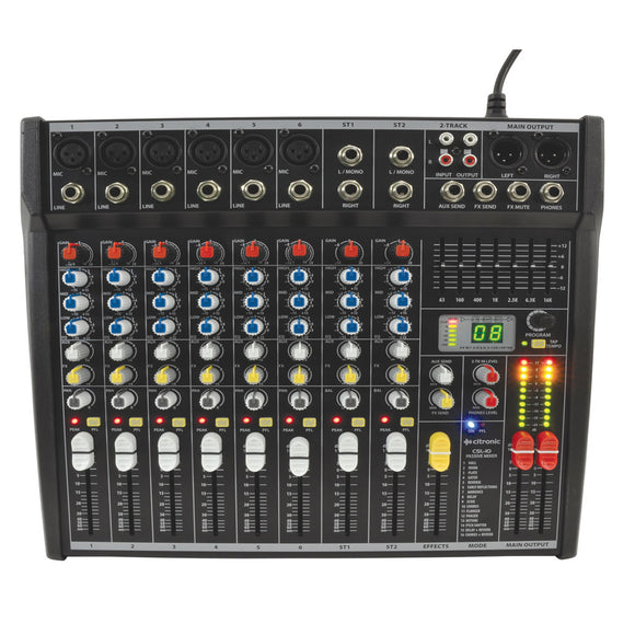 Citronic CSL-10 - 10 Channel Compact Mixing Console with DSP