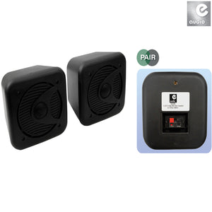 "E-AUDIO B420B - 5.25"""" 2-Way Mini Box Speakers (black)"