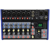 Citronic CSD-8 -  8 Channel Mixer with BT and DSP Effects