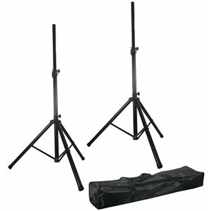 PULSE SSKIT1 - Twin Adjustable Speaker Stands Kit with Bag