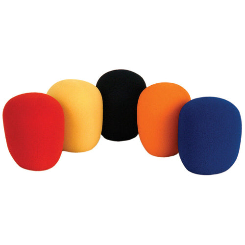 QTX 188.013UK - Multicoloured Microphone Windshields, Pack of 5