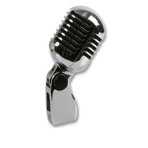 PULSE PLS00093 - Retro 50's Style Chrome Microphone