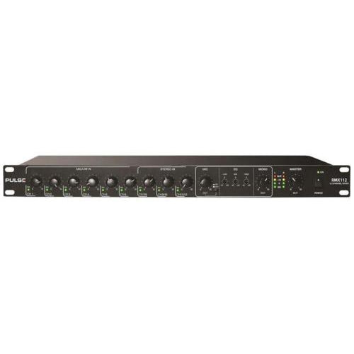 PULSE RMX112 - 12 Channel Mic/Line Audio Mixer with Priority - 19