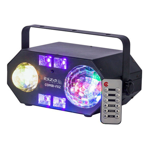 IBIZA LIGHT COMBI-FX2 - 4-in-1 Light effect with Astro, Water, Strobe & UV