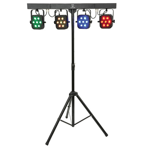 QTX PB-7 - High Power Foldable RGB LED Par Bar Light effect Kit