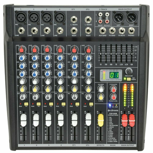Citronic CSP-408 - 400W 4 Channel Powered Mixer