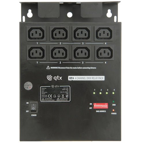 QTX RP4 - 4 Channel DMX Relay Pack