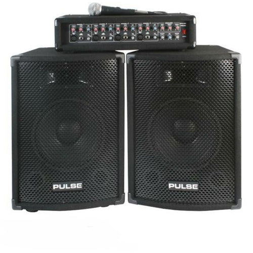 PULSE PMH200KIT - PA System with Mixer Amplifier, 2x75W RMS