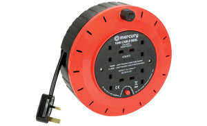 MERCURY 4-Gang Extension Reel with Thermal Cut Out 13A 10M