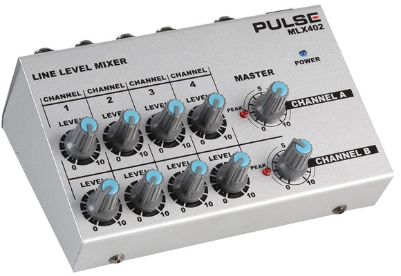 PULSE MLX402 - Compact Line Mixer, 8 Channel Mono / 4 Channel Stereo
