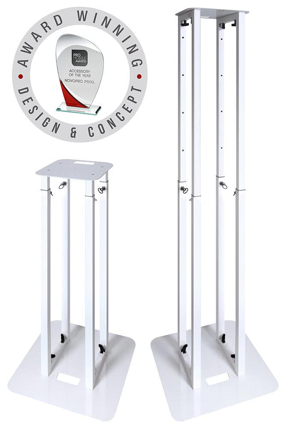 NOVOPRO PS1XL - Height Adjustable Podium / Plinth Stand, 100-175cm, White
