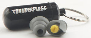 THUNDERPLUGS TPB1 - 18dB Ear Plugs with Aluminium Case Grey