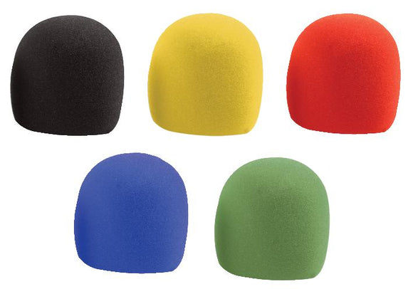 PULSE MWS-5PK - Microphone Windshields, Multicoloured (5 Pack)